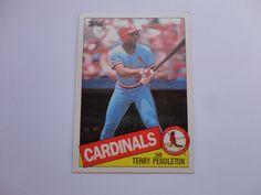 Terry Pandleton 1985 Topps Baseball Card.