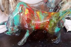Cow Parade, Elephant Parade, Sculpture Art, Decoupage, Pottery, Cows, Painting, Baby, Plaster Crafts
