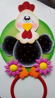 Foam Crafts, Diy And Crafts, Paper Crafts, Chicken Painting, Holiday Crochet, Punch Art, Hanging Wall Art, Bottle Crafts, Mosaic Art