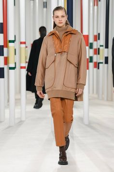 Herm¨¨s Fall 2020 Ready-to-Wear Fashion Show - Vogue Catwalk Collection, Fashion Show Collection, Couture Collection, Hermes, Fashion Moda, Fashion Week, Autumn Winter Fashion, Fall Winter, High Class Fashion