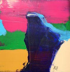Abstraction 5 - Peinture,  40x40 cm ©2016 par suelyblot -                                                        Art abstrait, Toile, Art abstrait
