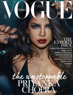 Priyanka Chopra looks simply too hot as she graces the cover page of Vogue India magazine September 2017 issue. - BTM A post shared by VOGUE India ( Magazine Front Cover, Vogue Magazine Covers, Fashion Magazine Cover, Fashion Cover, Magazine Cover Design, Vogue Covers, Actress Priyanka Chopra, Priyanka Chopra Hot, Editorial Photography