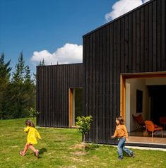 Caserío Azkarraga is a restaurant and residence wrapped in timber