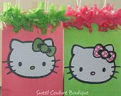 Hello Kitty Hot Pink/Polka Dot with Retro Green- Goodie Bag