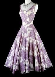 Image result for lilac 1950s style cocktail dress
