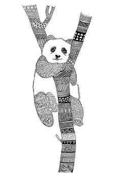 Panda zentangle ~ My SketchBook on Behance