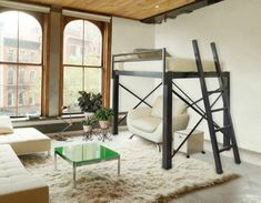 hochbett erwachsene on pinterest loft beds one room flat and hochbett selber bauen. Black Bedroom Furniture Sets. Home Design Ideas