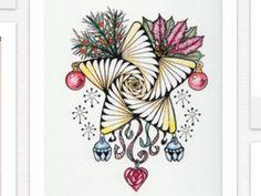 Doodled Christmas star idea
