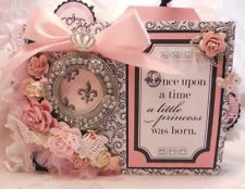 ELITE4U Teresa Collins Bebe Chic 9x6 Baby Girl Mini Album by Rina