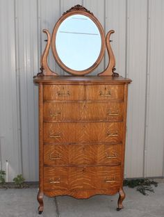 Early Antique Oak Dresser With Mirror Oak Dresser Dresser