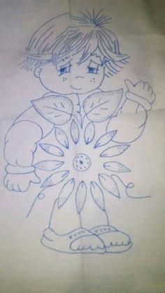 Niño crisantemo