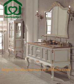 Web Photo Gallery Solid Wood White Bathroom Vanity cabinet