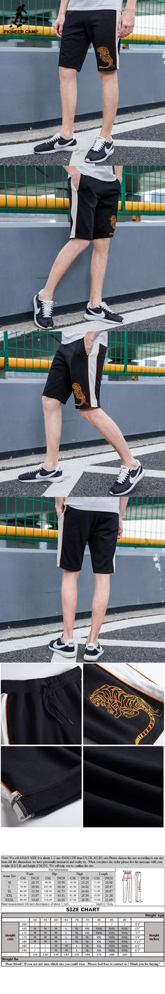 Pioneer Camp summer shorts men brand clothing tiger pattern embroidery casual shorts male top quality bermuda shorts ADK702158