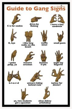 Gang signs explained