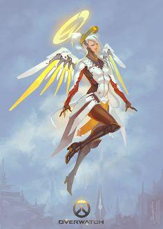 Mercy by cyl1981.deviantart.com on @DeviantArt - More at https://pinterest.com/supergirlsart/ #overwatch #fanart