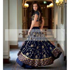 Blue Bridal Lengha