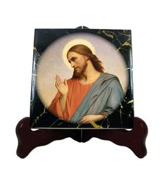 Christian gifts  Jesus Christ  Christian icon on tile  a