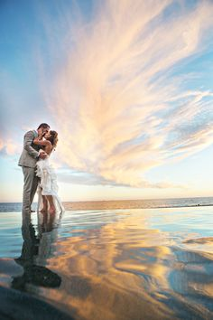 Reflections of love at The Resort at Pedregal.