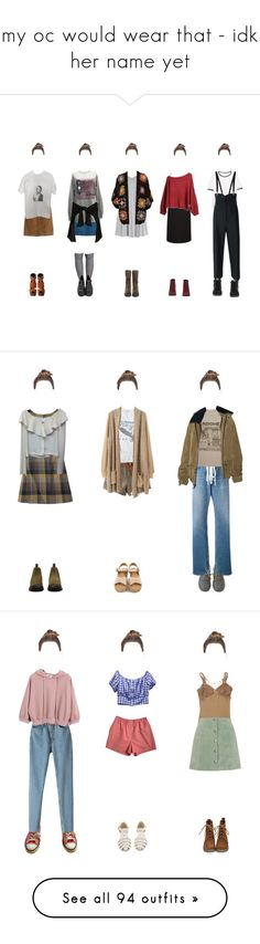 """""""my oc would wear that - idk her name yet"""" by anekochan on Polyvore featuring River Island, A.P.C., H&M, Wet Seal, MANGO, TIBI, NIKE, Giuseppe Zanotti, Sam Edelman and Off-White"""