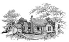 Eplans Cottage House Plan - Charm Packed - 1393 Square Feet and 3 Bedrooms(s) from Eplans - House Plan Code HWEPL00291