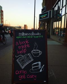 Books treat us well and even though it's getting dark so early the moon sure looks nice at the end of the street  Take care friends  #bookstore #milkweedbooks #minneapolis