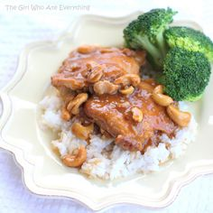 "Slow Cooker Cashew Chicken.  This put on ""The Girl Who Ate Everything's"" blog.  I've been hesitant to try slow-cooker cashew chicken, but have had a lot of luck with her choice of dishes, so think I'll give this one a try."