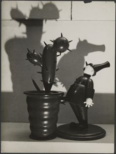 [Wooden Cactus with Wooden Policeman]; André Kertész (American, born Hungary, 1894 - 1985); Paris, France; 1928; Gelatin silver print; 22.5 x 16.7 cm (8 7/8 x 6 9/16 in.); 85.XM.388; J. Paul Getty Museum, Los Angeles, California