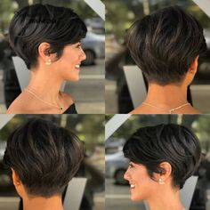 Short & Soft Pixie Haircut For Thick Hair Cute gamine Haircut Pixie short shorthair Soft texture Pixie Haircut Styles, Pixie Haircut For Thick Hair, Short Hairstyles For Thick Hair, Cute Short Haircuts, Short Hair Cuts For Women, Pixie Hairstyles, Bob Hairstyle, Pixie Haircut For Round Faces, Pixie Styles