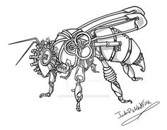 Tampered Temper: The Steampunk Honeybee by IAmPickledTink.deviantart.com on @DeviantArt