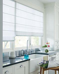 Rideaux De Cuisine Et Stores Pour Habiller Les Fenêtres De - Store pour meuble de cuisine pour idees de deco de cuisine