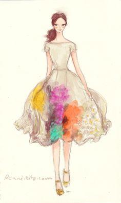 Fashion illustration by Rhian Awni