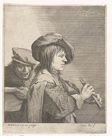 Fluitspeler, Quirin Boel, David Teniers (II), onbekend, 1635 - 1668