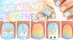 Nail art Licorne ♡