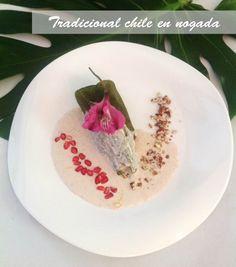 Tradicional chile en nogada de La Sauceda