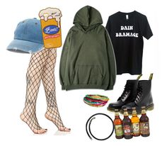 Sneaking beer into a festival 🍻 by leilou-xo on Polyvore featuring polyvore, fashion, style, WithChic, Leg Avenue, Dr. Martens, Bulgari, Mudd and clothing