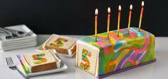 Rainbow Tie-Dye Surprise Cake for Tablespoon.com's 5th Birthday
