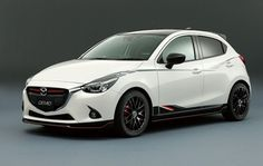 2015 Mazda 2 White Desktop Wallpaper