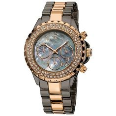 New August Steiner Women's Crystal MOP Chronograph Bracelet Watch online. Find great deals on  mens watches from top watches store - favoritewatches