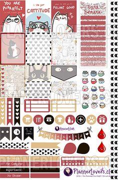 Let's be Miaws! – Stickers Imprimibles