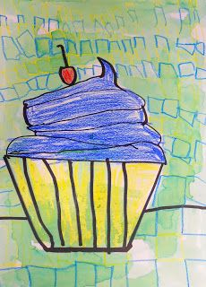 Exploring Art: Elementary Art: 1st Grade Wayne Thiebaud Donuts and Cupcakes