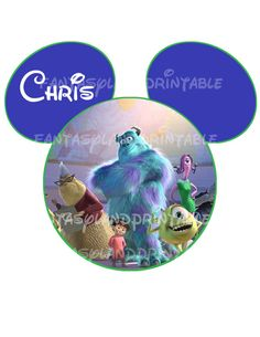 Disney Monsters Inc Mickey DIY Printable Image for Iron on Transfers Disney Buzz Lightyear Woody on Etsy, $5.00