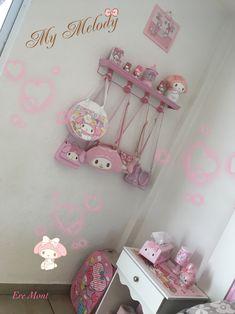 My Melody ❤️❣️ Sanrio, Bunny Names, Otaku Room, Kawaii Room, Room Ideas, Decor Ideas, Little Twin Stars, My Melody, Baby Bunnies