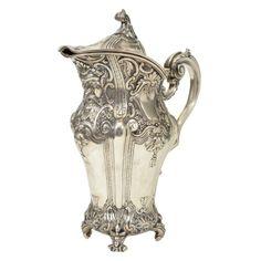 Vintage Portugese sterling silver water jug
