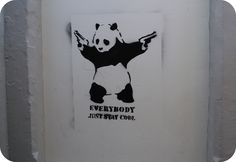 Everybody Just Stay Cool by Banksy