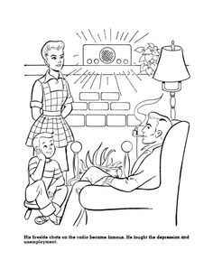 fireside girls coloring pages | Great Depression - Factories Closing Coloring Page | The ...