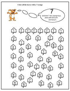 İdentification number worksheet for kids | Crafts and Worksheets for Preschool,Toddler and Kindergarten