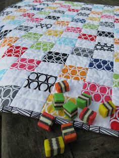 Jen's Crafts and Quilts Scrapbook: '50c Mixture' - baby buggy blanket or kick mat