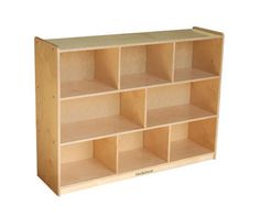 "S364808BIR Kids' Station 36"""" 8 Sect Cabinet, 48""""W x 13 1/4""""D x 35 7/8""""H"