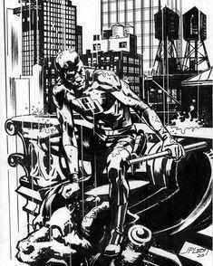 Jim Lee Batman, Batman And Batgirl, Daredevil Art, Dustin Nguyen, Godzilla Vs, Batman Beyond, Comic Panels, John Paul, Process Art