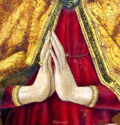 Vittore Crivelli - Madonna in trono (pentittico), dettaglio - Capodarco di Fermo, chiesa di Santa Maria